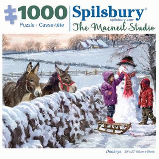Donkeys 1000 Piece Jigsaw Puzzle