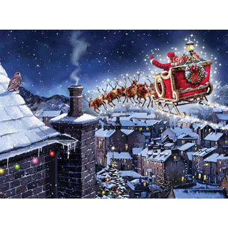 Santa Flying 1000 Piece Jigsaw Puzzle