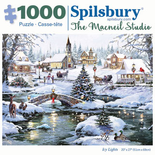 Icy Lights 1000 Piece Jigsaw Puzzle