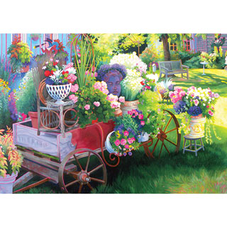 Flower Cart 300 Large Piece Jigsaw Puzzle