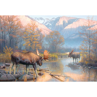 Showdown At The Oxbow 500 Piece Jigsaw Puzzle