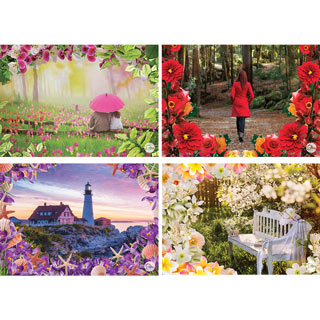 Set of 4: Debbie Macomber 1000 Piece Jigsaw Puzzles