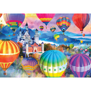 Neuschwanstein Air Balloon Festival 1000 Piece Jigsaw Puzzle