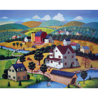 Nostalgic Autumn 300 Large Piece Jigsaw Puzzle