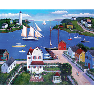 Seaside Village 300 Large Piece Jigsaw Puzzle