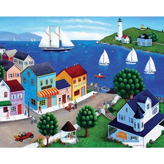 Harbor Town 1000 Piece Jigsaw Puzzle