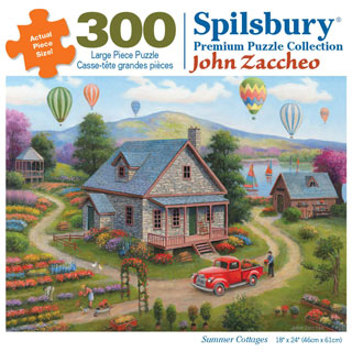 Summer Cottages 300 Large Piece Jigsaw Puzzle