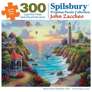 Sunset Over Paradise Cove 300 Large Piece Jigsaw Puzzle