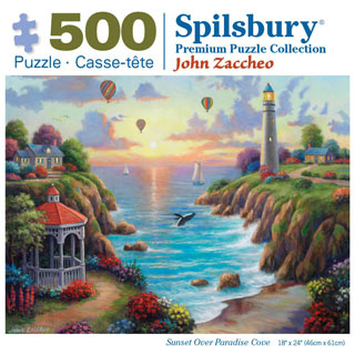 Sunset Over Paradise Cove 500 Piece Jigsaw Puzzle