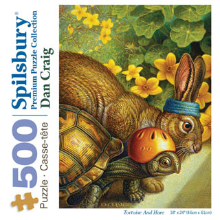 Tortoise And Hare 500 Piece Jigsaw Puzzle