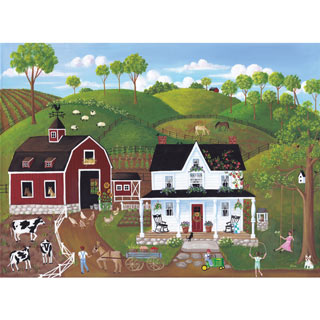 Summer at the Farm 500 Piece Jigsaw Puzzle