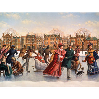 Victorian Skaters 500 Piece Jigsaw Puzzle