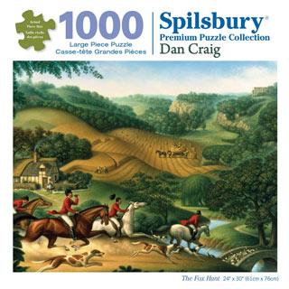 The Fox Hunt 1000 Piece Jigsaw Puzzle