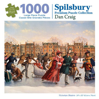 Victorian Skaters 1000 Piece Jigsaw Puzzle