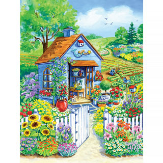 Path to the Garden Shed 1000 Piece Jigsaw Puzzle