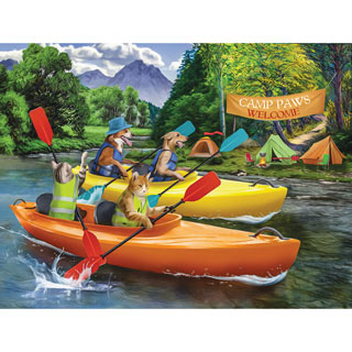 Welcome to Camp Paws 300 Large Piece Jigsaw Puzzle