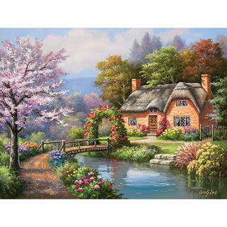 Spring Creek Cottage 300 Large Piece Jigsaw Puzzle