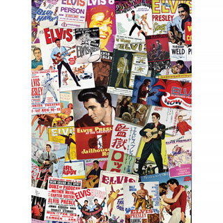Elvis Movie Posters 1000 Piece Jigsaw Puzzle