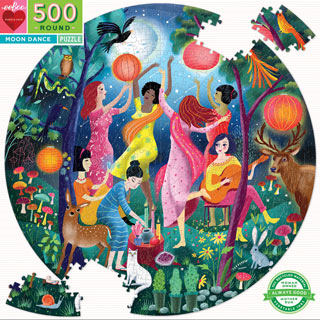 Moon Dance 500 Piece Round Jigsaw Puzzle