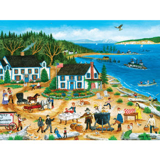 Clambake at the Beach 550 Piece Jigsaw Puzzle