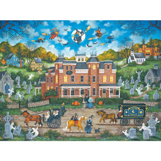 Halloween Fright Night 300 Large Piece Jigsaw Puzzle