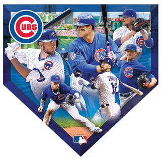 MLB Home Plate Shaped 500 Piece Jigsaw- Cubs