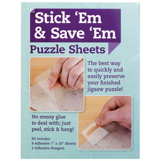 Stick 'Em & Save 'Em Puzzle Sheets