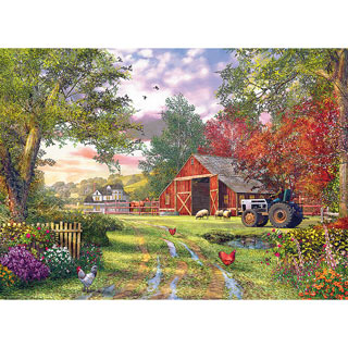 Evening At The Barnyard 1000 Piece Jigsaw Puzzle