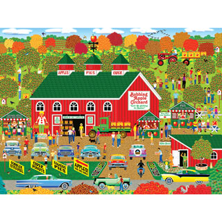 Bobbing Apple Orchard Farm 500 Piece Jigsaw Puzzle