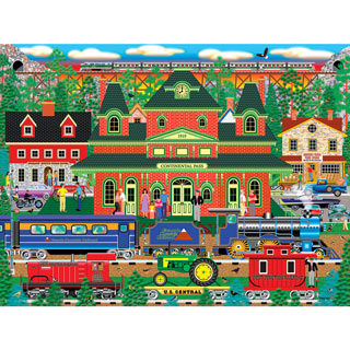 Mountain Rail Holiday 500 Piece Jigsaw Puzzle