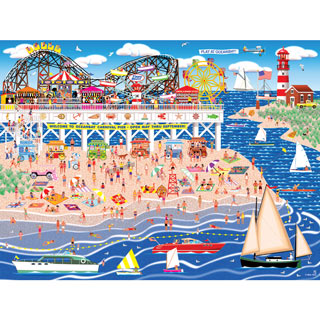 Oceanbay Carnival Pier 300 Large Piece Jigsaw Puzzle