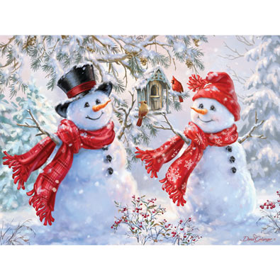 Snow Sweethearts 550 Piece Jigsaw Puzzle
