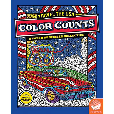 Travel the USA-Color by Number Book