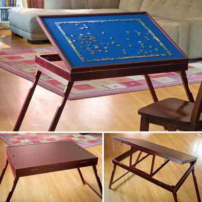 Puzzle Expert™ Wooden Tilt-Up Table