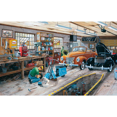 Ford and a Cord 300 Large Piece Jigsaw Puzzle