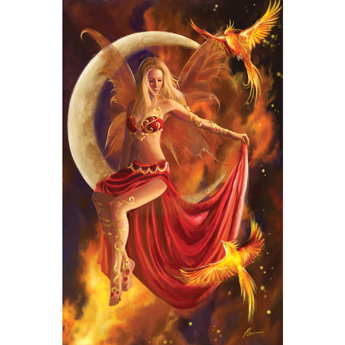 Fire Moon 1000 Piece Jigsaw Puzzle