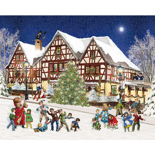 Snowball Fight 1000 Piece Jigsaw Puzzle