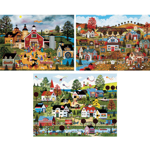Set of 3: Jane Wooster Scott 550 Piece Jigsaw Puzzles