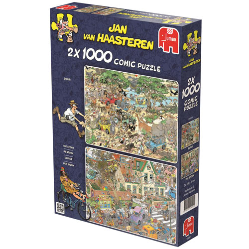 2-in-1 Multi Pack 1000 piece Jigsaw Puzzle Set