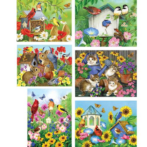 Set of 6: Jane Maday 500 Piece Jigsaw Puzzles