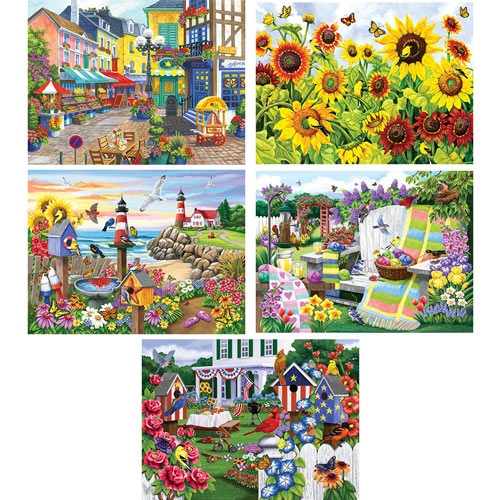 Set of 5: Nancy Wernersbach 300 Large Piece Jigsaw Puzzles