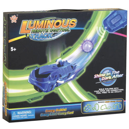 Glow-in-the-Dark Race Track