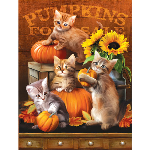 Autumn Kittens 300 Large Piece Jigsaw Puzzle