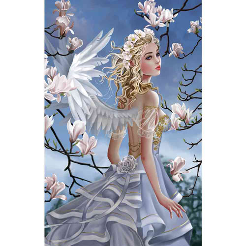 Angel and Magnolias 1000 Piece Jigsaw Puzzle