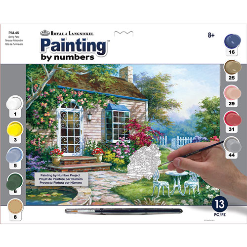 Painting by Numbers Summer Kit - Spring Patio