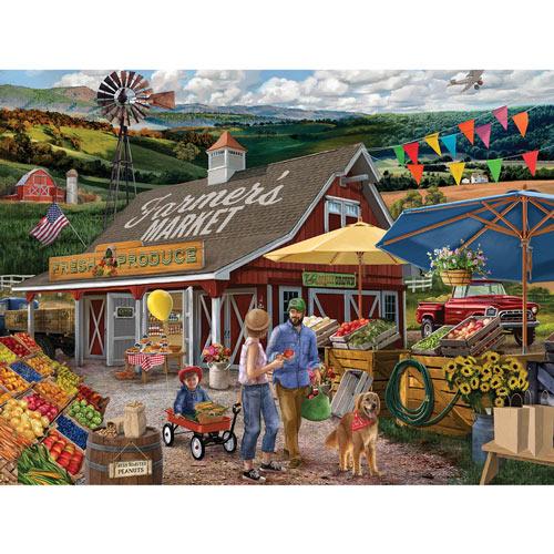 Farmer's Market 550 Piece Jigsaw Puzzle