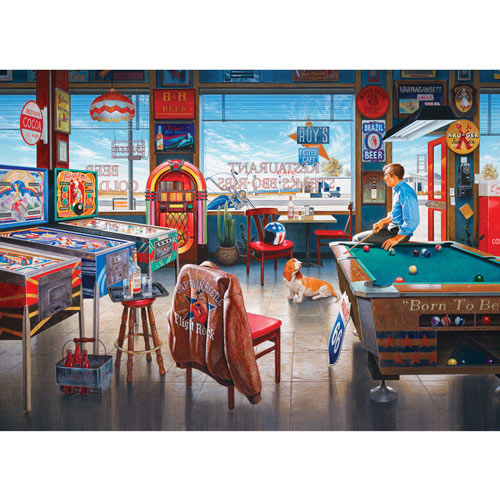 Billiards Restaurant 1000 Piece Jigsaw Puzzle