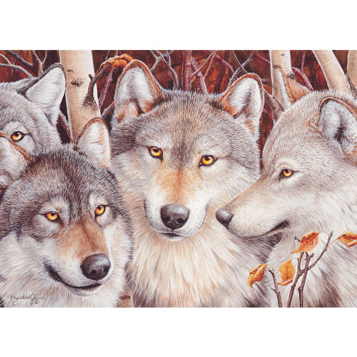 Wolf Crowd 1000 Piece Jigsaw Puzzle