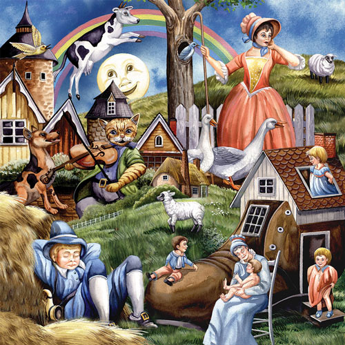 Nursery Rhymes 300 Large Piece Jigsaw Puzzle
