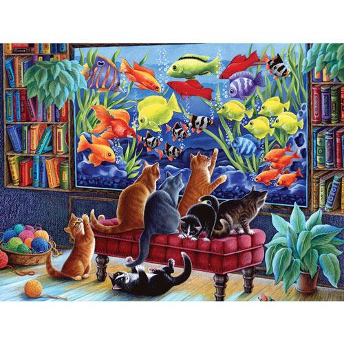 Kittens Fishing 550 Piece Jigsaw Puzzle
